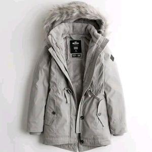 NWT! Light Gray Parka Jacket